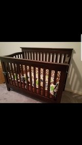 Espresso baby crib in Joliet, Illinois