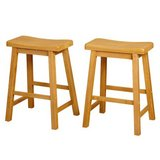 "Set of (2) Belfast Saddle 24"" Stools (Oak) -NEW! in Naperville, Illinois"