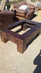 Wood table frame in Yucca Valley, California