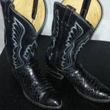 Mens  sz 11.5  cowboy boots,  Tony Lamas style, snake skin in very good condition in Fort Leonard Wood, Missouri