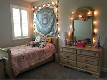 Full size bed frame and dresser in Travis AFB, California