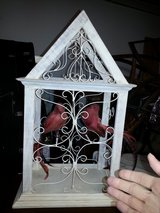 Decorative Bird Cage with two Feathered Friends - no feeding necessary :) in Chicago, Illinois