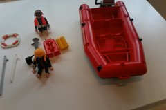 Playmobil motor boat and divers in Stuttgart, GE