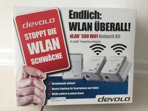 DEVOLO POWERLINE DLAN 500 WIFI NETWORK KIT COMPLETE WITH 3 ADAPTERS/PLUGS in Ramstein, Germany