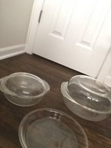 Pyrex casserole dishes and pie plate in Fort Leonard Wood, Missouri