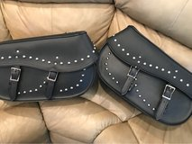 Studded hard leather saddle bags in Fort Rucker, Alabama