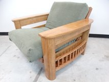 Solid Wood Cushioned Chair with Storage in Pasadena, Texas