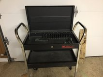 Kolbolt sockets and stanley sockets rachets / redline tool cart with lock and key and grinder in Fort Leonard Wood, Missouri