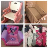 Co Sleeper/Minnie chair/rocker/nb pjs in Watertown, New York