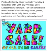 Huge Yard Sale Going On Now *cheap* in Fort Knox, Kentucky