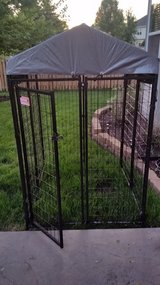 Nice Menards 4X4X6h  Dog Run - Cage with brand new canopy . in Naperville, Illinois