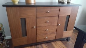 Buffet, black/Brown solid wood in Wright-Patterson AFB, Ohio
