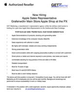 Now Hiring: Apple Representative for Shop in Shop at Graf Main PX in Ramstein, Germany