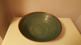 Large green pottery bowl in Wright-Patterson AFB, Ohio