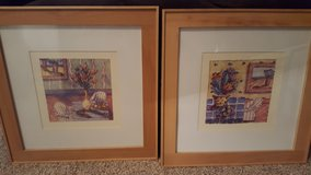2 Abstract prints, 19.5x19.5 in Wright-Patterson AFB, Ohio