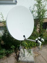 Satellite dish with stand and dual LNBs in Stuttgart, GE