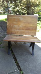 Antique school desk in Naperville, Illinois