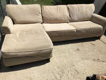 "Two piece sectional 110"" long in Fort Riley, Kansas"