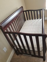 Greco convertible crib with serta mattress in Fort Leonard Wood, Missouri