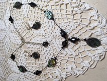 Black Jewelry Set Purchased from Artist over 20 Years Ago Black Abalone on Delicate Black String... in Kingwood, Texas