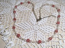 Vintage Necklace Family Piece Light Pink and Aurora Borialis Finish Moonstone Type Beads in Kingwood, Texas