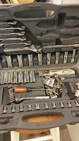 Box of used wrenches in Warner Robins, Georgia