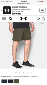 under armour  PT shorts new condition in Camp Pendleton, California