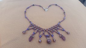 Rough Ruby Weaved Beaded Necklace never worn in 29 Palms, California