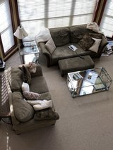 Microfiber couch and loveseat in Batavia, Illinois