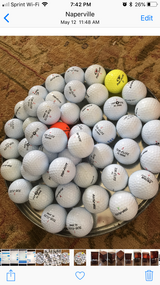48 GENTLY USED TOP-FLITE GOLF BALLS in Lockport, Illinois