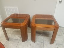 Real Wood Glass Top End Tables in Fort Campbell, Kentucky