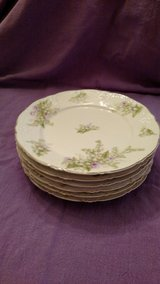 6 Antique China plates, delicate floral pattern. in Leesville, Louisiana
