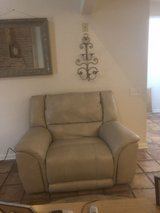 Sofa, love seat , and oversized plush recliner chair all of them recline.Soft plush leather in Bellaire, Texas