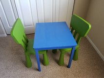 kids Table and Chairs in Fort Carson, Colorado