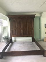 Solid wood Henredon king sized bed frame in The Woodlands, Texas