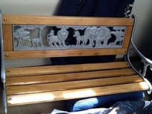 Childrens wrought iron/wood bench in Glendale Heights, Illinois
