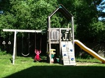 Wooden playset in Glendale Heights, Illinois