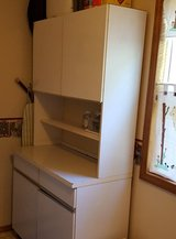 2 Pantry Cabinets (one white, one brown) in Fort Leonard Wood, Missouri
