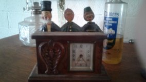 don't know much about this clock except it is antique the music in Yucca Valley, California
