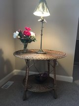Bar Harbor Vintage Wicker Table in Glendale Heights, Illinois