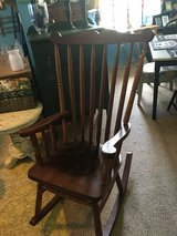 Solid wood rocker in Conroe, Texas