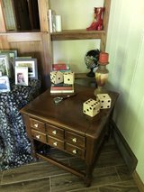 Ethan Allen library table. 2 drawers. 25x24. in DeKalb, Illinois