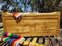 Rustic Cowboy firewood Bench boxes -Handcrafted in Alamogordo, New Mexico