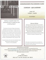 Horsemanship/Pole Bending Clinic in Fort Lewis, Washington