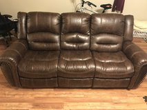 Flexsteel New Town Power Reclining Couch with warranty in Fort Leonard Wood, Missouri