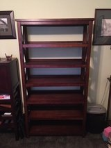 Mahogany shelving unit in The Woodlands, Texas