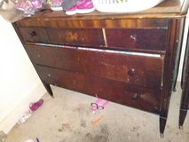 **REDUCED** 1969 Antiques Dresser set on wheels in Greensboro, North Carolina
