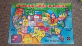 First Learning Wooden USA Map Floor Puzzle in Bolingbrook, Illinois
