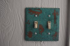Hand Painted Copper Dual Switchplate in Alamogordo, New Mexico
