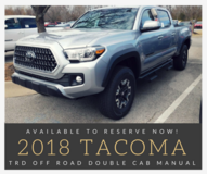 2018 Tacoma TRD Off Road Manual in Stuttgart, GE